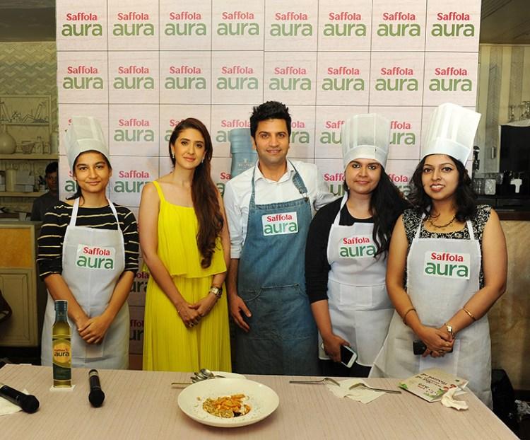 Our team with Kunal Kapur and Pooja Makhija