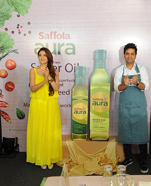 The Launch of Saffola Aura Oil