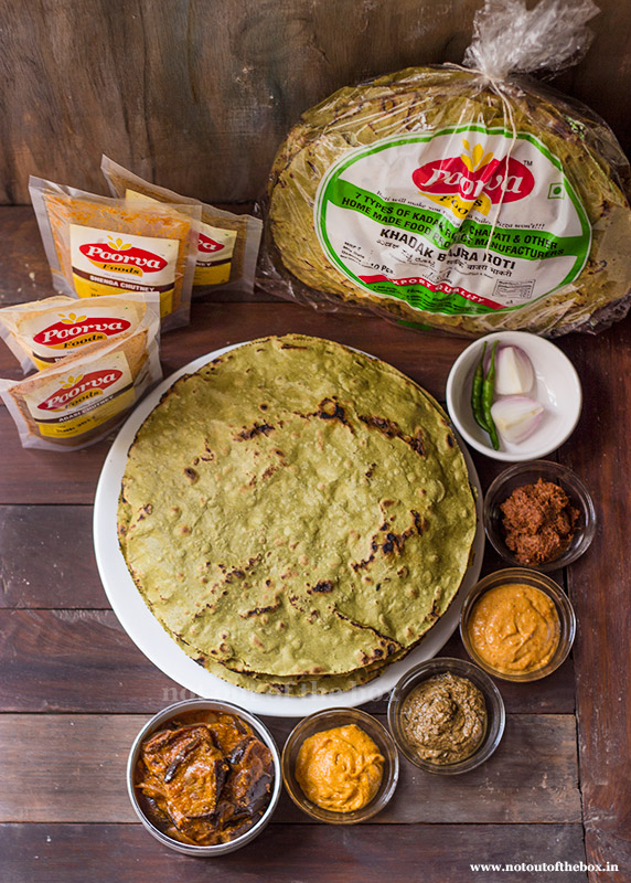 Kadak Roti and Chutneys from TaazaTaaza