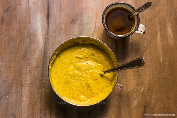 Mustard-Coconut paste