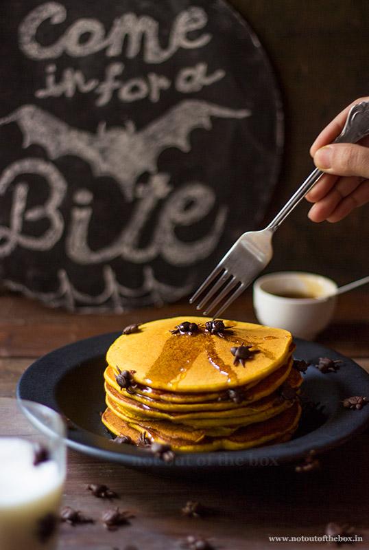 Pumpkin Custard powder Pancakes