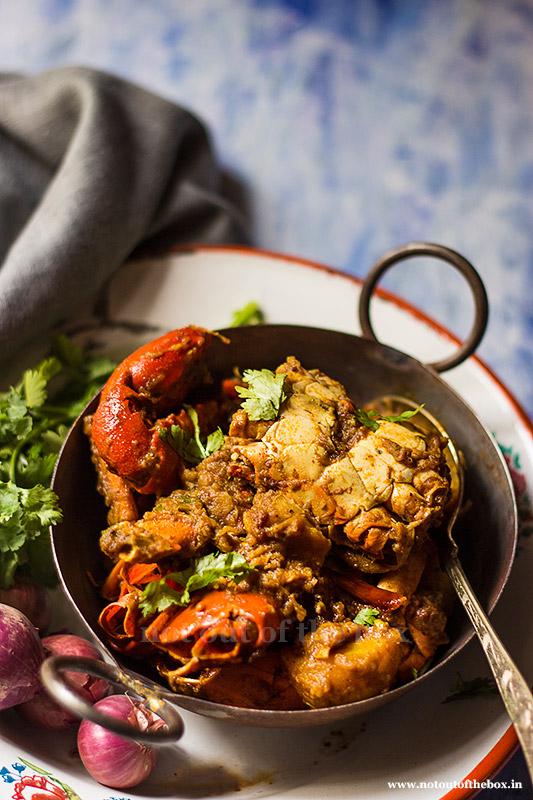 Kakrar Jhal/Bengali style Crab Curry
