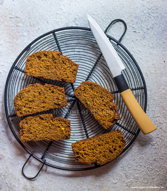 Spiced Jaggery Cake slices