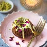 Spiced Jaggery Cake with Saffron Glaze