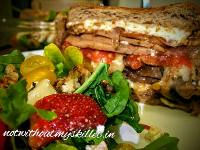 A King's Meal: 8-layered cold pressed sandwich