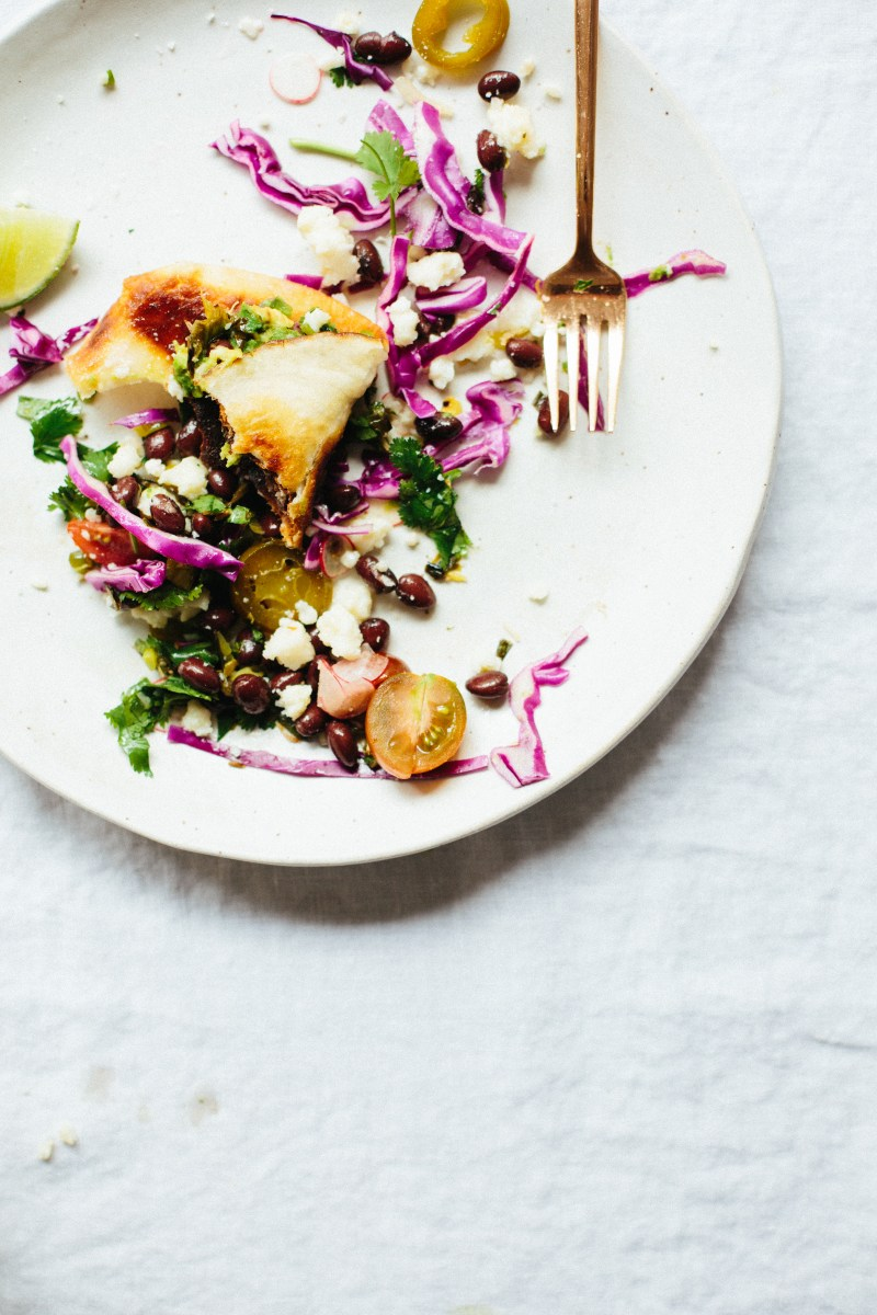 Grilled Avocado and Charred Scallion Tostada // Notwithoutsalt.com