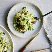 Brussels Sprouts Salad with Candied Bacon