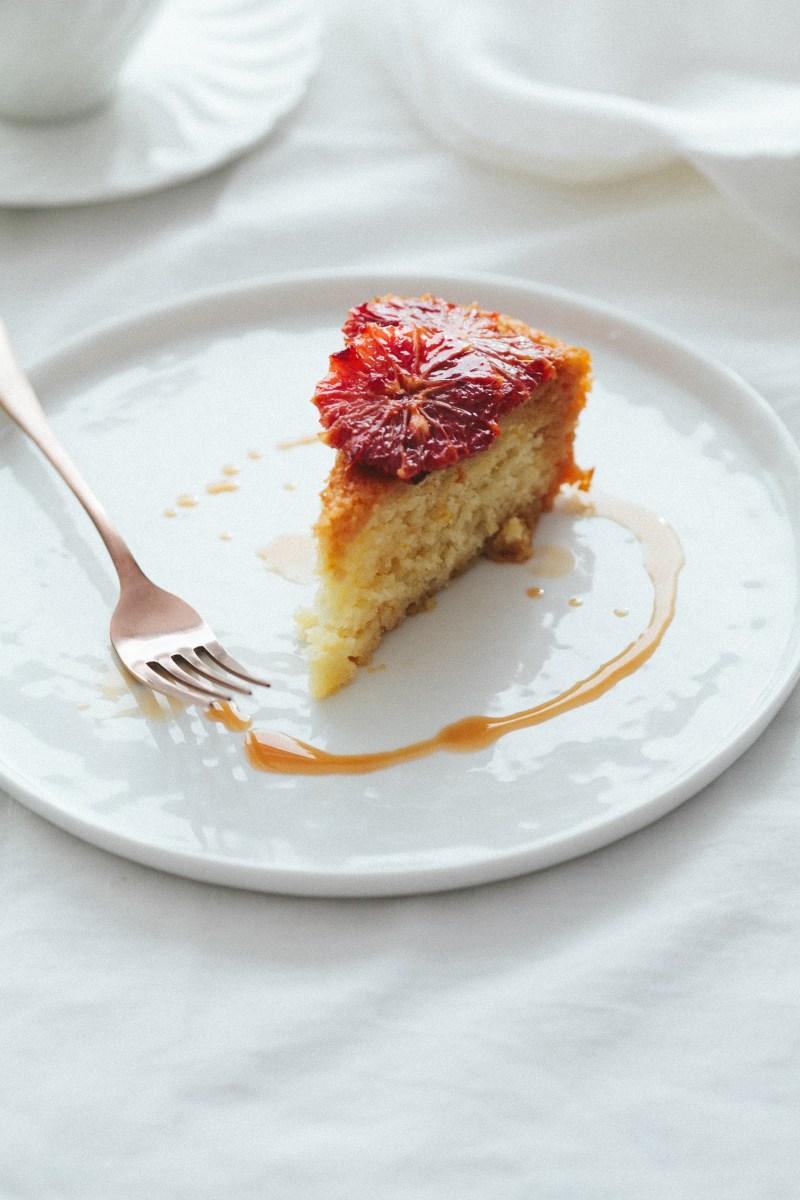 IMG_3333Yogurt Cake with Blood Orange Caramel // Notwithoutsalt.com