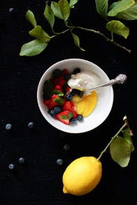 Lemon Curd with Fresh Berries and Mint // Not Without Salt