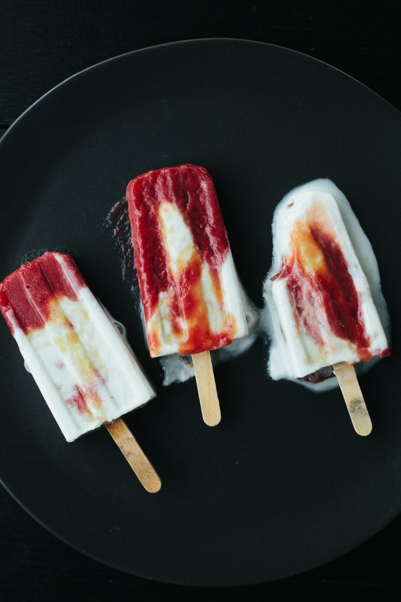 Coconut Rhubarb Creamsicles // Not Without Salt