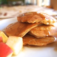 Apple Cinnamon Greek Yogurt Pancakes