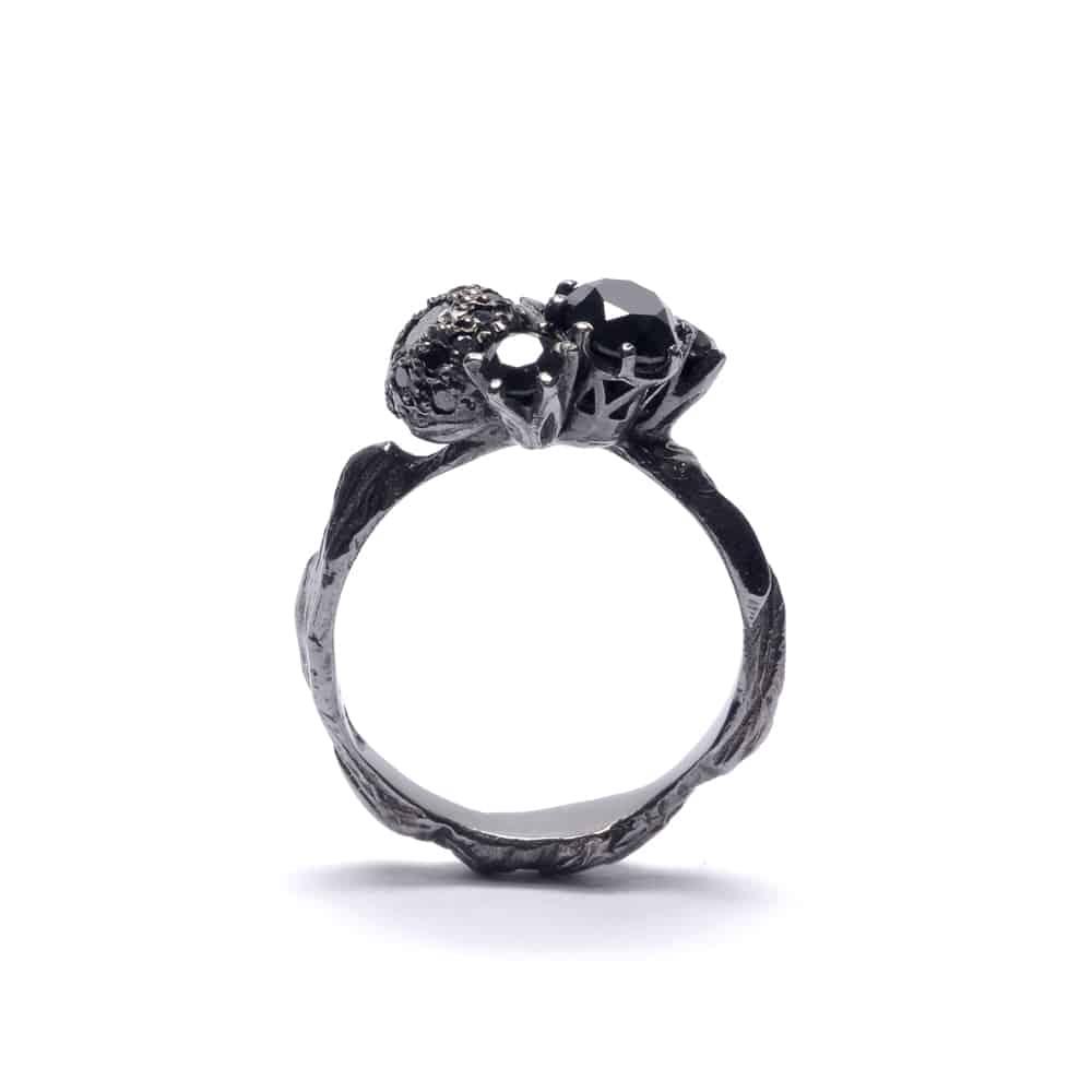 unique engagement rings australian jewelers unique wedding rings Unique engagement rings by Australian jewelers Black engagement ring by Julia deVille
