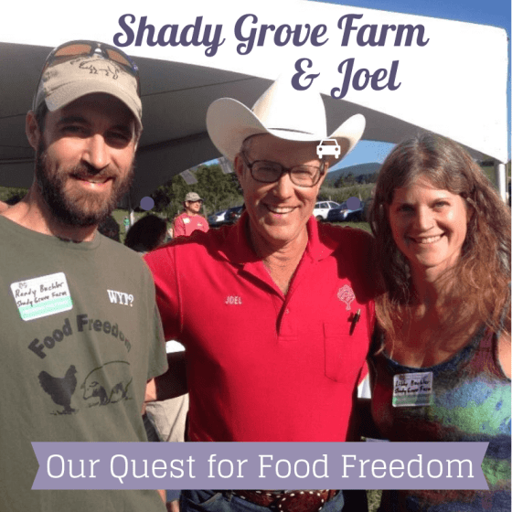 Randy and Libby of Shady Grove Farm with Joel Salatin - Photo credit: Randy Buchler