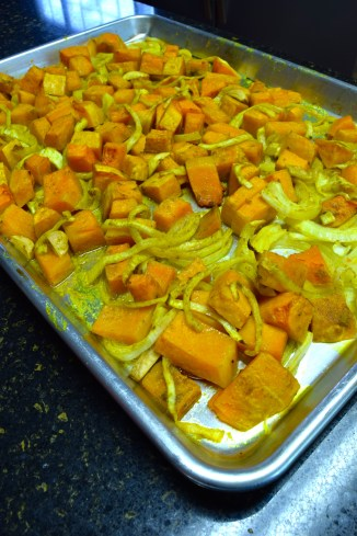 Roasted Squash, Onion, and Garlic