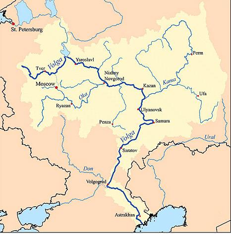 map volga river