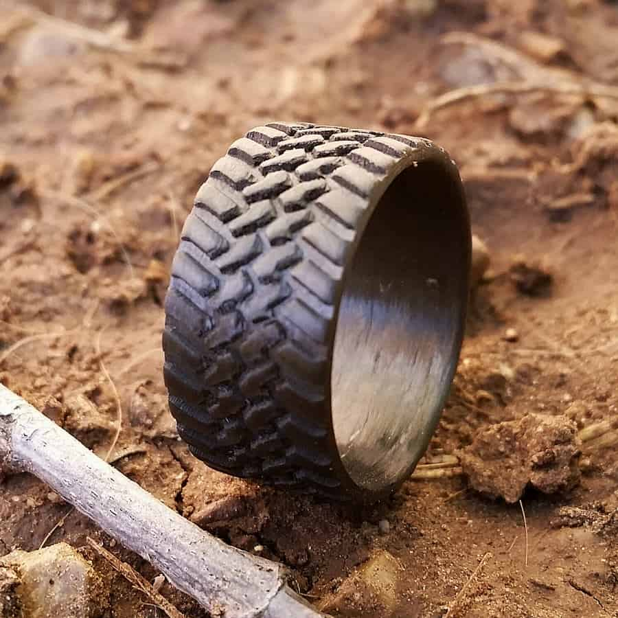 mudding tire wedding rings tire tread wedding band Mudding tire wedding rings Outlaw Tire Ring By Mooredesign13 Outlaw Tire Ring By Mooredesign13