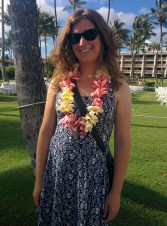 Dressed up for the luau!
