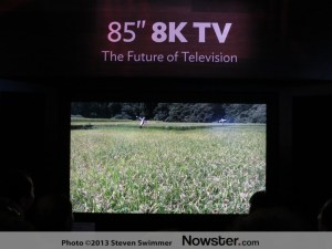 Sharp 8K display at the Consumer Electronic Show