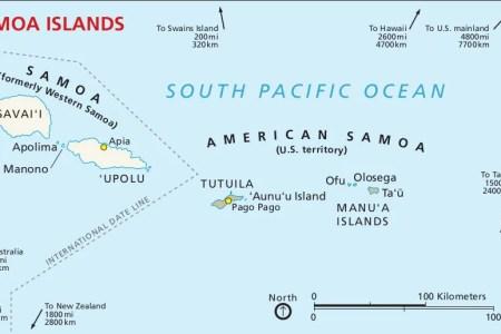Map Of Western Samoa - Samoa map