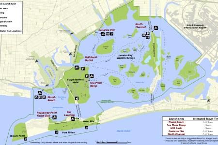 jamaica bay kayaking map