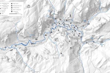 Map yosemite trails yosemite valley hiking map publicscrutiny Choice Image