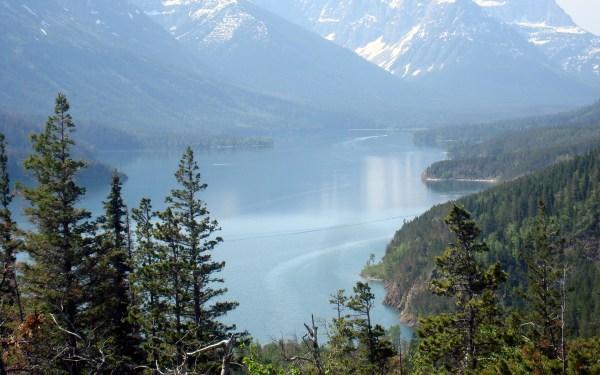 1 - mountains and waterton lake