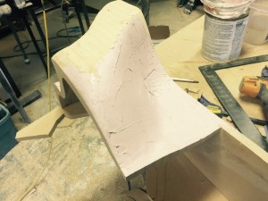 Tried out some Bondo to smooth out the surface but it really wasn't necessary.