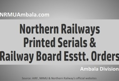 Northern Railway Printed Serials 2016