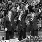 Pro-forced unionism politicians like Gov. Jennifer Granholm (D-Mich., shown here with former Vice President Gore and President Obama) have lost credibility due to the extraordinarily poor economic performance of forced-unionism states.  Credit: Radiospike.com