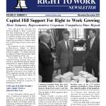 November-December 2011 issue of The National Right To Work Committee Newsletter