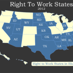 2012 Right To Work Map