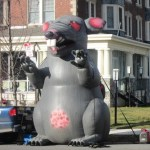 Overused Inflatable Rat used in Philly
