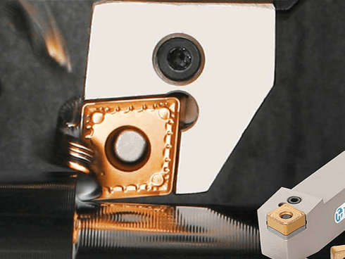 Unique insert and shim profile offer maximum stability in semi-heavy machining