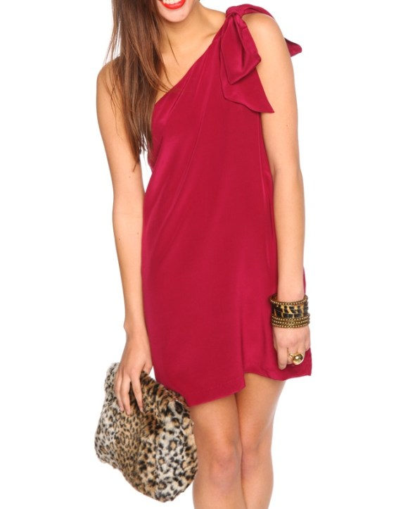 Nasty Gal Dress Bow Red