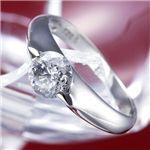 PT900/0.9ct 【鑑別書付き】プラチナダイヤモンドリング ・ダイヤ指輪