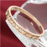 K10PG/0.03ct ピンクゴールド ダイヤハートリング ・ダイヤ指輪