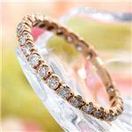 SIL925/0.5ct ピンクゴールドカラーダイヤモンドエタニティリング ・ダイヤ指輪