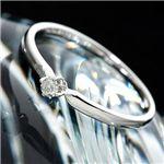 K18WG/0.05ct ダイヤモンドリング (フェアカットアップ)