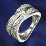 SIL925/0.6ct ダイヤモンド ワイドパヴェリング  ダイヤ指輪