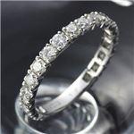 【鑑別書付き】PT900/1.0ct ダイヤモンド エタニティリング (偶数サイズあり)
