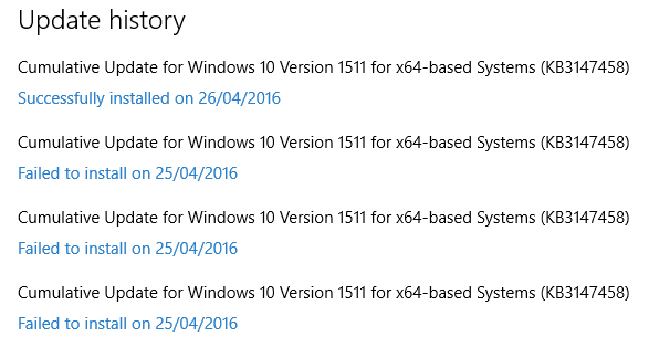 Windows10Update Success