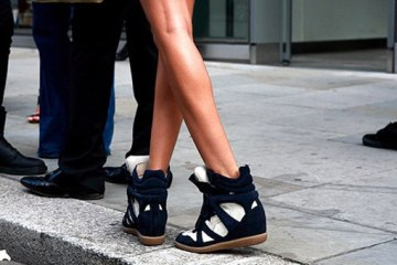Isabel Marant Wedge Sneakers Model Celebrity Obsession