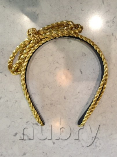 Gold Headband Braided Updo Holiday Hairstyle Blowpop Dry Bar 1