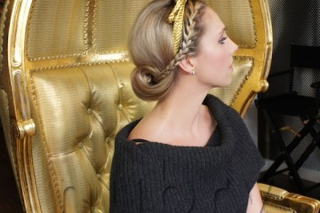 Braided Updo Holiday Hairstyle Blowpop Dry Bar 2