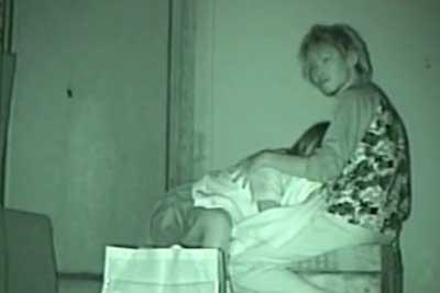 【盗撮動画】JKとギャル男の最強にチャラいカップルw。深夜の公園に消えてったので赤外線カメラで尾行したら案の定フェラww