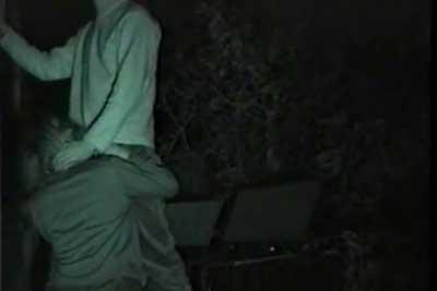 【盗撮動画】深夜の公園でセックス始めちゃってるカップル発見!赤外線カメラでめっちゃ鮮明に一部始終を隠し撮りしてやりましたよww