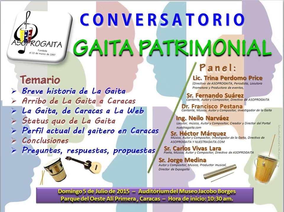 conversatorio gaita patrimonial 2015