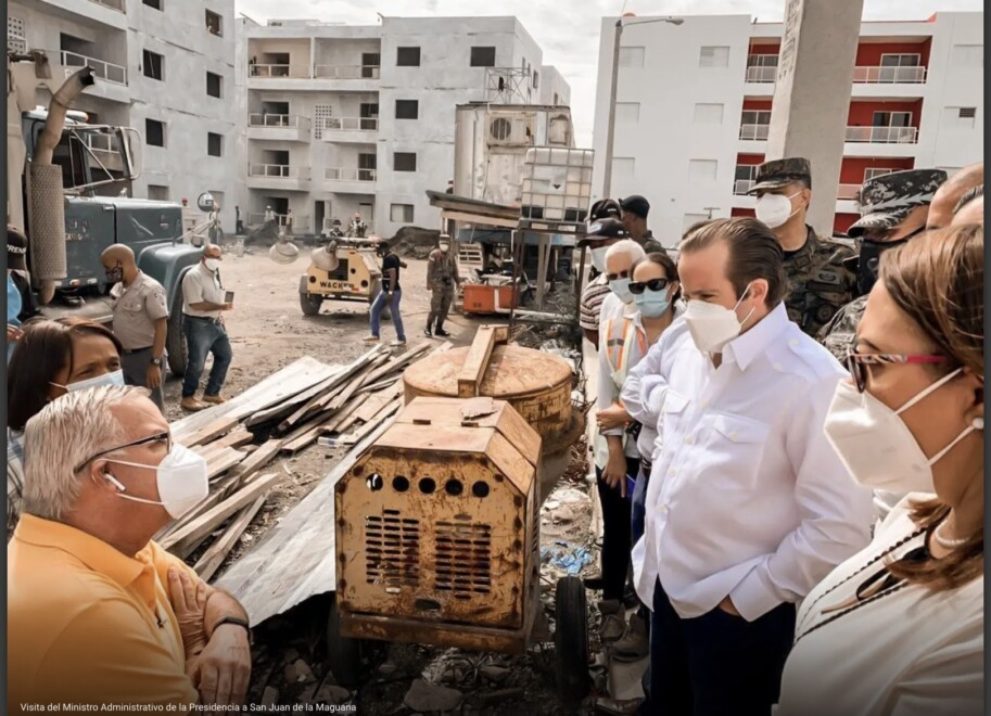Paliza supervisa proyecto habitacional en San Juan que alojará familias afectadas por crecida del Río en 2004