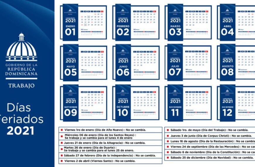 Estos son los feriados para el 2021 anunciados por el Ministerio de Trabajo