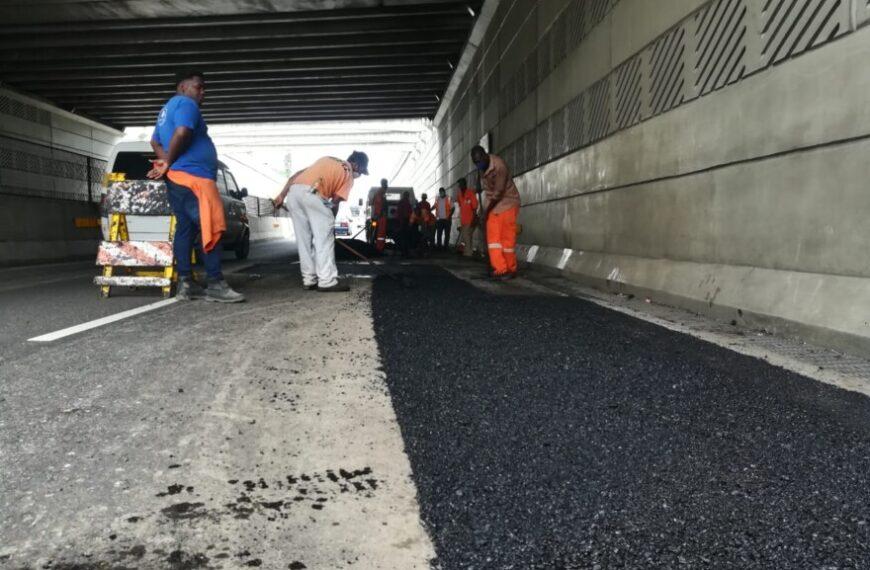 Obras Públicas inicia trabajos de bacheo y pavimentación en avenida 27 de Febrero